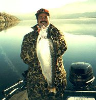 Winter Produces Trophy Rainbow At Rufus Woods Reservoir.